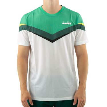 Diadora Clay Tee Mens Holly Green/White/Bistro Green 175655 C8760û