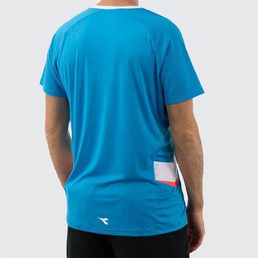 Diadora Clay Tee Shirt Mens Bright Cyan Blue 175666 65193