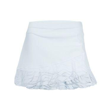 Sofibella Miami 14 Inch Tiered Court Skirt - White