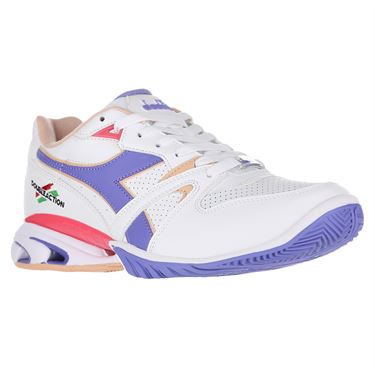 Diadora Speed Star K Womens Tennis Shoe White/Violet 176082 C5129