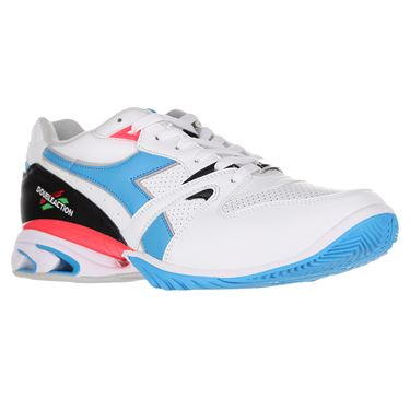 Diadora Speed Star K Mens Tennis Shoe White/Blue 176083 C6087