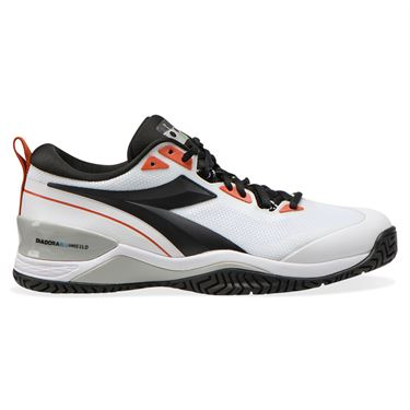 Diadora Speed Blushield 5 AG Mens Tennis Shoe White/Black/Mecca Orange 176940 C9105