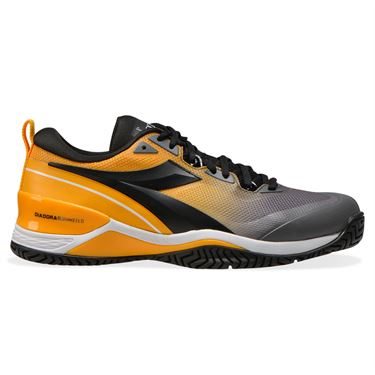 Diadora Speed Blushield 5 AG Mens Tennis Shoe Saffron/Black/Quiet Shade 176940 C9213