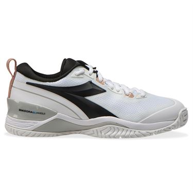 Diadora Speed Blushield 5 AG Womens Tennis Shoe White/Silver/Black 176941 C3433