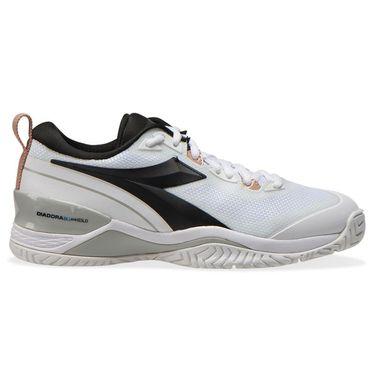 Diadora Speed Blushield 5 AG Womens Tennis Shoe White/Silver/Black 176941 C3433