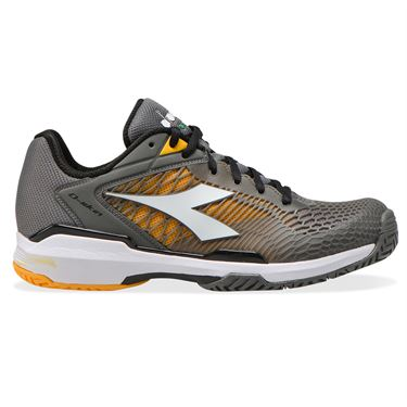 Diadora Speed Competition 6 AG Plus Mens Tennis Shoe Quiet Shade/White/Saffron 176956 C9212