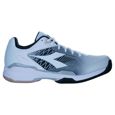 Diadora Speed Competition 6 Plus Womens Clay Tennis Shoe White/Silver/Black 176959 C3433
