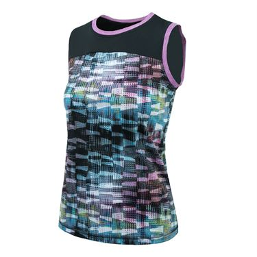 Sofibella Madrid Practice Sleeveless Top - Matrix Print