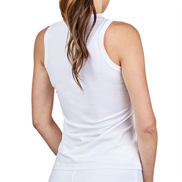Sofibella Alignment Full Back Tank Womens White 1772 BLC