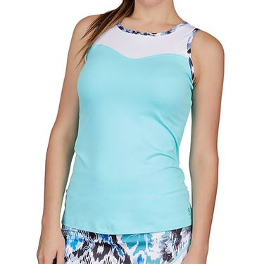 Sofibella Dreamscape High Neck Tank Womens Air/White 1785 AIR
