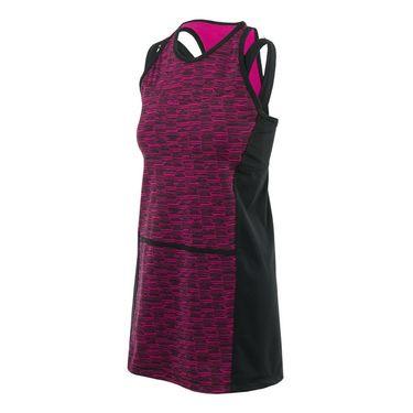 Jerdog Bohemian Groove Fit Dress - Raspberry/Black Print