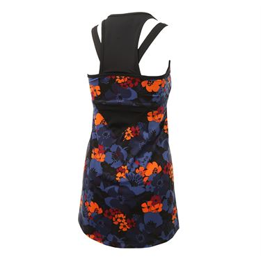 Jerdog Lucky Penny Fit Dress - Black/Floral Print