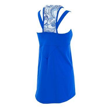Jerdog Paisley Dot Fit Dress - Royal/White Print Trim