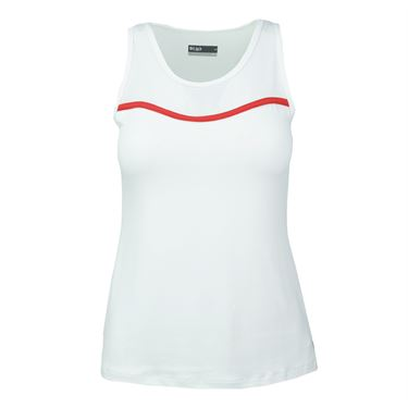Lija Intense Focus Slice Tank - White/Lava Red