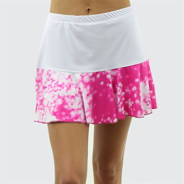 Jerdog On the Spot New Marrowed Skirt - White/Fuchsia Print