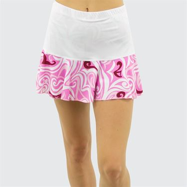 Jerdog Summer Breeze New Marrowed Skirt - White/Pink Print