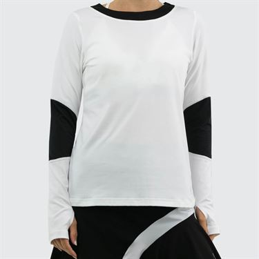 Sofibella Ravello Long Sleeve Top Womens White 1804 WHT