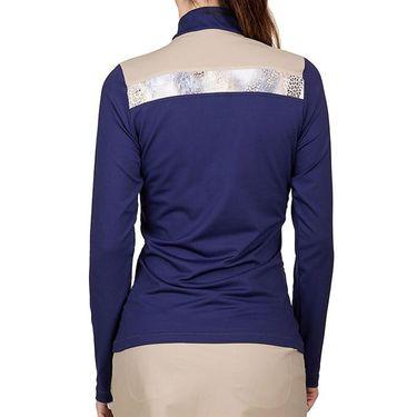 Sofibella Allure Long Sleeve 1/4 Zip Plus Size Womens Navy/Wild Lapis 1806 NVYP