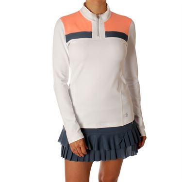 Sofibella Singapore Course Long Sleeve Top - White