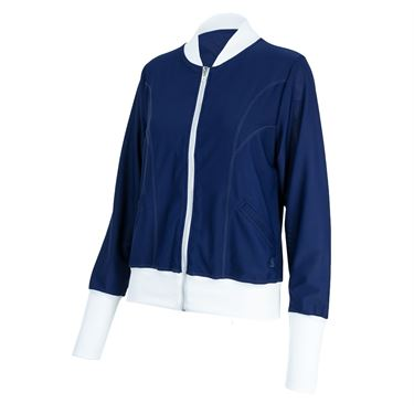 Sofibella London Tailored Bomber Jacket - Navy