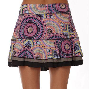 Sofibella Electra Ripple Plus Size Skirt - Sundial Print
