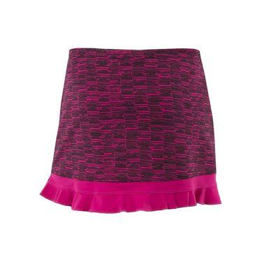Jerdog Bohemian Groove Athletic Ruffle Skirt - Raspberry