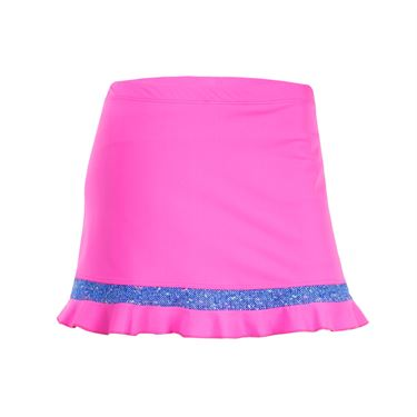 Jerdog Royal Tweed Athletic Ruffle Skirt - Pink/Tweed