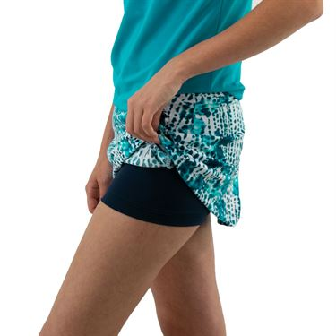 Jerdog Floral Indigo A Line Skirt