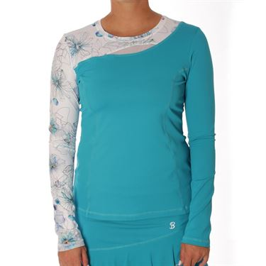 Sofibella Harmonia Identity Long Sleeve Top - Surf