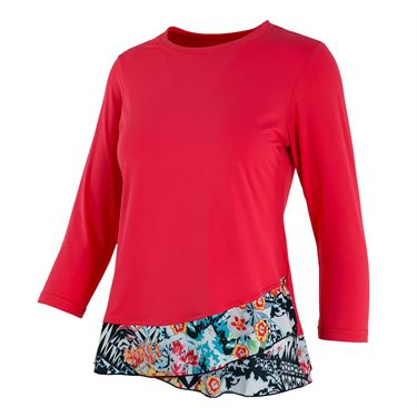 Sofibella Melbourne Bliss 3/4 Sleeve Top - Coral