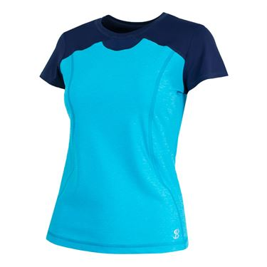 Sofibella London Fate Short Sleeve Top - Portofino Blue
