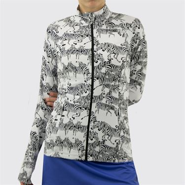 IBKUL Zip Front Jacket Womens Gino White/Black