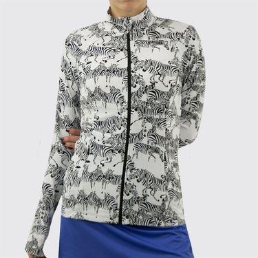 IBKUL Zip Front Jacket Womens Gino White/Black