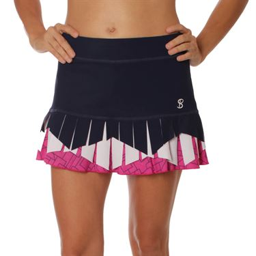 Sofibella Amunet Diamonds 13 Inch Skirt - Navy