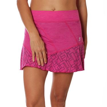 Sofibella Amunet Follow Plus Size Skirt - Fuchsia Melange