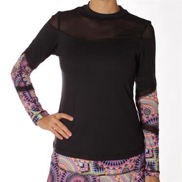 Sofibella Electra Plus Size Long Sleeve Top - Black