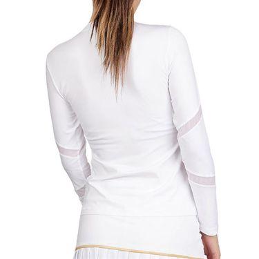 Sofibella Club Lux Long Sleeve Top Womens White/Diamond 1856 WHT