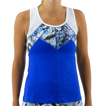 Sofibella Dreamscape Full Back Tank Womens Royal Waters/Mineral/White 1858 RWS