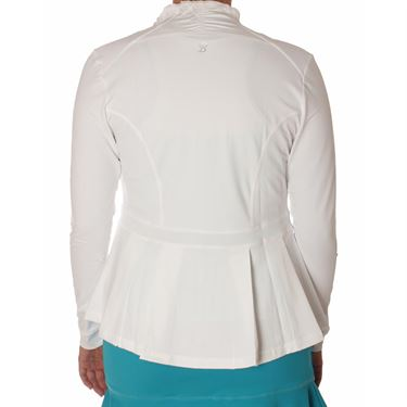 Sofibella Harmonia Pleated Peplum Jacket - White