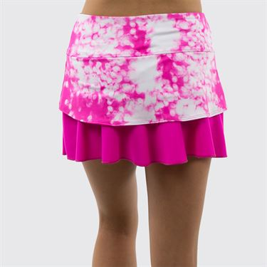 Jerdog On the Spot Back Swing Skirt - Fuchsia/Fuchsia Print