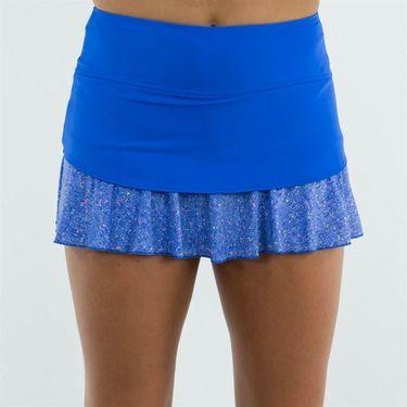 Jerdog Royal Tweed Back Swing Skirt - Royal/Tweed