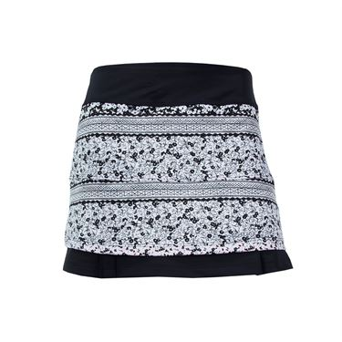 Jerdog Tea Rose Twin Pleat Skirt - Print/Black