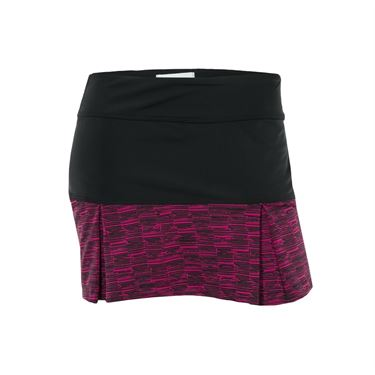 Jerdog Bohemian Groove Pleat Skirt - Black/Raspberry