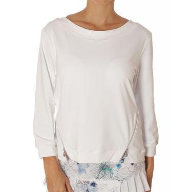 Sofibella Harmonia 3/4 Sleeve Pullover - White