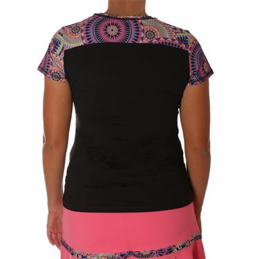 Sofibella Electra Plus Size Cap Sleeve Top - Black