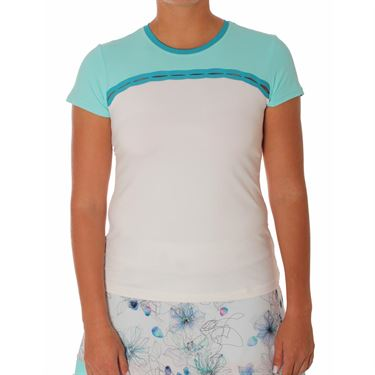 Sofibella Harmonia Short Sleeve Top - White