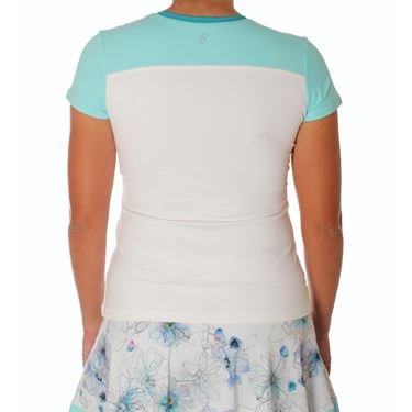 Sofibella Harmonia Plus Size Short Sleeve Top - White