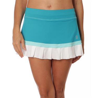 Sofibella Harmonia Pleated 12 Inch Skirt - Surf