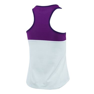 Lija Fair And Square Lustre Prime Tank - White/Violet/Boysenberry