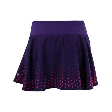 Lija Fair And Square Nevo Highline Skirt - Dark Geo Print/Boysenberry